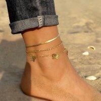 Anklets Retro Simple Snake-shaped Chain Anklet Girls Bohemian Beauty Leg Bracelet Beach Jewelry