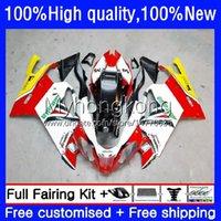 Faneros de motocicleta para Aprilia RSV 1000 R 1000R RSV1000R MILLE RV60 Rojo Cowling Hot Cowling 9NO.5 RSV-1000 RSV1000 R RR 03 04 05 06 RSV1000RR 2003 2004 2005 2006 Kit de cuerpo