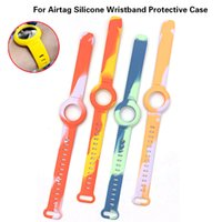 For Airtag Silicone Wristband Protective Case Smart Devices Watch Strap Locator Tracker Anti-Lost Protectives Cover Accessories Air Tags