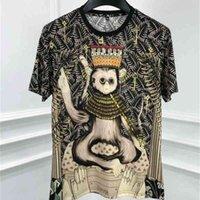 القمصان الربيع 20ss ماركة الملابس القرد التاج طباعة الشهيرة تي تي شيرت القطن عارضة للرجال
