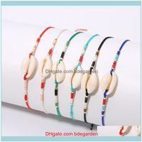 Charm Jewelryrttooas Miyuki Seed Beads Bracelet Boho Shell Bracelets Handmade Woven Friendship Women Gifts Adjustable Wrap Bracelet1 Drop De
