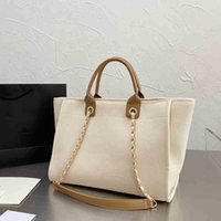 Luxury design bags oversize tote handbag classic designer women 2021 Beach purse nylon clutch large Pearl package with gold chain fashion wallet