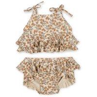 Малышки для мальчиков для мальчиков для мальчиков Купаться в новых летних KS бренд Baby Hawaii одежда детей цветок купальники дети купальники милые бикини 210304 581 Y2