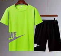Tasarımcı Erkekler Tracksuit Sportsuit Moda Baskılı T Gömlek Şort Plaj Hızlı Kuru Set Boyutu M-5XL