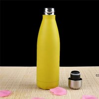Double Walled Vacuum Insulated Water Bottle Cup Cola Shape Stainless Steel 500ml Sport Vacuum Flasks Thermoses Travel Bottles seaway DHA8508