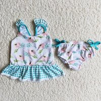 Wholesale Kid Designer Clothes Sets Girls Boutique Swimsuits Bathing Suit Fashion Cute Toddler Baby Girl Swimwear Kids Beachwear Clothing Outfits High Quality