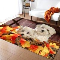 Carpets Cartoon Dod Children Room Floor Area Rug 3D Printed Animal Play Mat Flannel Anti-slip Kitchen Bedside Living Carpet