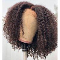 kinky 곱슬 딱지없는 360 레이스 정면 인간의 머리 가발 아기 머리를 가진 흑인 여성을위한 전체 레이스 가발 pre 뽑아 내린 자연 hairline
