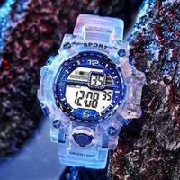 Wristwatches Fashion Watch Women's Men's Gold Leisure Transparent Digital Electronic Sports Valentine's Gift Reoj Mujer Rainbow