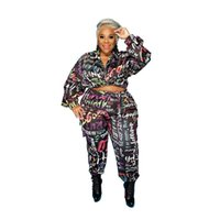 Womens Sets Workout Clothes Hoodies Pants 2 Piece Set Warm Ladies Printed Women Outfits Matching Suit Tracksuit Women's Tracksuits
