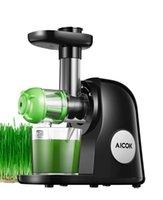 Aicok mastigando lento exaustor máquina de extrato fácil de limpar, livre de bpa, colheitas de imprensa fria com escova, receitas de suco para legumes e frutas