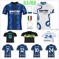 2021 2022 Inter Soccer Jerseys Vidal Barella Milan Lautaro Eriksen Alexis Dzeko Sensi J. Correa Custom 21 22 Homme Femmes + Enfants Kit Home Away Troisième Chemise de football