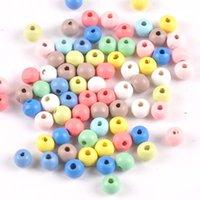 500 teile / los Natürliche hölzerne 5 Größen bunte runde hölzerne spacer perlen hölzerne perlen für baby glatte schmuck machen diy