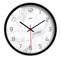 Horloges murales Minimaliste Nordic Clock Art créatif Mute Quartz Classique Moderne Mode Chambre à coucher Wand Klok Suspending Montre AB50WC