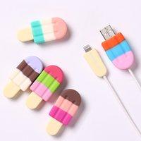 Cep telefonu için USB kablosu koruyucu charm şarj kabloları ısırık koruma kapağı mini tel kordon telefon aksesuarları