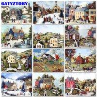 Dipinti Gatyztory Frameless Paint By Number Canvas Pittura Kit Casa Foto per Adulti Dipinto a mano Dono Della DEGHIGGIO DEGLI HOME DECO