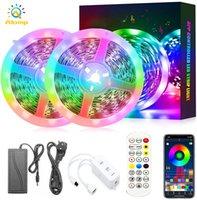 Smart RGB Light Strip Kit 16.4FT 32.8ft 50FT Controllo app Bluetooth Bluetooth 60LEDS / M Musica impermeabile Sync Sync Rainbow Tape luci per la decorazione di nozze del partito della stanza