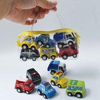 6 قطعة / المجموعة الأطفال مصغرة التراجع سيارة لعبة البناء مركبة الحريق شاحنة نموذج مجموعة الأولاد عيد عطلة هدية 936 x2