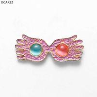 Factory Lovegood Glasses Pins Women Pink Enamel Brooch Luna Opal Lapel Shirt Bag Badge Classic Jewelry Crystal Pin Best Friends Gift
