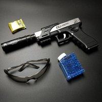 غلوك مسدس pistola نموذج قنبلة المياه paintball دليل الادسنس الهوائية بندقية اطلاق النار سلاح للبالغين الأولاد هدايا عيد