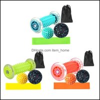 Aessories Equipments Fitness Supplies Sports & Outdoorsaessories 5 Pcs Yoga Pain Relief Wheels Muscle Mas Roller Siamese Fascia Ball Set A0K