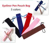 المخملية الرباط الأقلام الحقيبة حقيبة 5 ألوان للنفس لاصقة كحل ماء القلم أكياس القماش فارغة قلم رصاص الفانيلا حقيبة