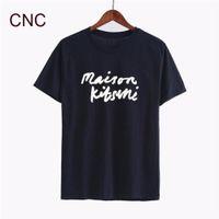 19ss Maison Kitsune Letter Geometric Printed Stylist Fashion Summer T Shirt Tee Casual Men Women Street Short Sleeve HFHLTX024