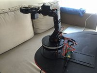 Aluminium robot 5 DOF arm klem klauw mount kit mechanische robot arm kit + PS2 + 32Channel control board + usb draad