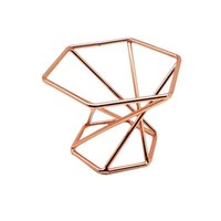 Gartendekorationen Geometrische Luftanlage Halter Modern Dekor Gold Terrarium Tischtisch Home Hochzeitsgeschenke Puff Make-up Schwamm Mixer 908 B3