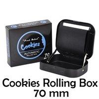 쿠키 금속 담배 담배 롤링 머신 휴대용 가방 흡연 롤러 상자 케이스 70mm 종이 손 수동 트레이 소매 패키지 포장