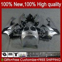 Bodys Kit для Kawasaki Ninja ZX-7R ZX750 ZX 7R 96 97 98 99 00 01 02 03 Bodywork 28HC.38 ZX-750 ZX 7 R ZX 750 ZX7R 1996 1997 1998 1999 2000 2001 2002 2003 Обсуды Черный серебристый