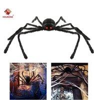 50% DE DESCUENTO PARA Partido Decoración de Halloween Black Spider Haunted House Prop Indeor Outdoor Gigante 3 Tamaño 30 cm 50 cm 75cm