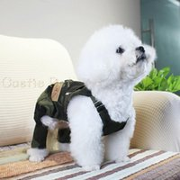 Dog Apparel Est Camouflage Rompers Overall, Casual Design Pet Clothes,Dog Bib Pants Soft Cotton Fabric For Bichon Teddy Poodle