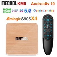 MeCool KM6 طبعة ديلوكس ATV Amlogic S905X4 الذكية الروبوت 10 TV Box 4GB 64GB 1000M 2.4 / 5G WIFI 6 BT 4K Media Player Set Box Box