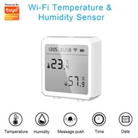 Умный домашний контроль WiFi Tuya Температура и влажность Датчик Ультра-Низкая мощность с ЖК-дисплеем экрана Дисплей Alarm Push работает Alexa Google