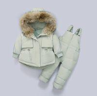 Down Coat Children Clothing Set Jacket Winter Baby Suspender Trousers Child Girl Ski Suit Boys Kids Clothes Toddler Jumpsuit