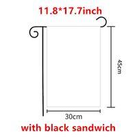 De gros! 11.8 * 17.7inch Drapeaux de jardin de sublimation avec sandwich noir double côté 30 * 45cm 3Layers blancs de transfert de chaleur vierge blanc A12