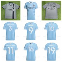2021-22 FC New York City Soccer Jerseys 55 Parchi 16 Sands 7 David Villa 8 Frank Lampard 21 Andrea Pirlo Camicia da calcio Kit