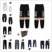 Мужские граффити светящиеся звездные неба, брюки акул, шить, пары, пары, пары для ног, повседневные карманы, камуфляж 0105 Reflectiv XPBK