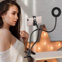 PHOTO STUDIO Selfie LED Bague à la lumière avec téléphone portable Porte-mobile Porte-flux en direct Maquillage de la photographie photo de photographie pour iPhone Android