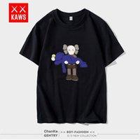 Vente en gros Europe et les États-Unis Pure Color T-shirt Mode Main Mode Marque À Manches courtes Voler Coton Demon polyvalente Femmes Couples Wear Top