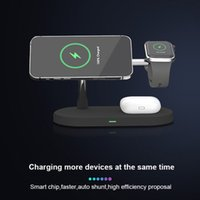 5 In 1 Magnetic Wireless charger Stand 15W Fast Charging Dock Station For Watch Chargers Stand