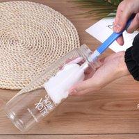 فرش تنظيف كأس الإسفنج العملي مع مقبض البلاستيك المنزل شريط زجاجة فرشاة الغسيل HWE6377