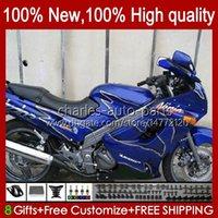 Bodys voor Kawasaki Ninja ZZR250 Fully Blue ZZR-250 90 91 92 93 94 95 96 97 98 99 Carrosserie 54HC.20 ZZR 250 cc 1990 1991 1992 1993 1994 1995 1996 1997 1998 1999 OEM-Valerijen