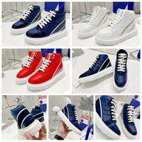 Mode Top Qualität Leder handgemachte Stiefel Multi-Color Gradient Technology Schuhe Herren Frauen Sport 2501