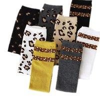 Fashion Leopard garçons filles chaussettes coton doux enfants genou haut chaussettes hiver jambe chaussettes enfants enfants long chaussettes meia calicètes 1034 x2