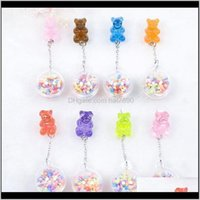 Dangle & Chandelier Jewelry1Pair Stud Multicolours Gummy Bear Resin Earring With Ball Earrings Fashion Jewelry Gift1 Drop Delivery 2021 Hfqb