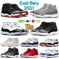 High 11s بارد Gery 2021 Low 11 رجالية أحذية كرة السلة بيضاء بلينك كونكورد 45 أسطورة الأزرق 25th الذكرى الحمضيات إغلاق كاب و ثوب البلاتين تينت مصمم أحذية رياضية
