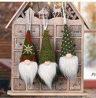 زينة عيد الميلاد سانتا مجهولي الهوية دمية قطرة الحلي حامل دمى منتصف العام الديكور القطن قلادة مهرجان ديكور نويل BWD11314