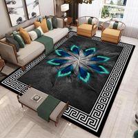 الحديث النمط الصيني 3d المطبوعة السجاد غرفة المعيشة أريكة طاولة القهوة ضوء الفاخرة بطانية المنزل غرفة نوم كامل حصيرة السجاد